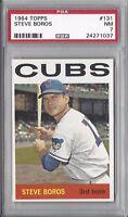 1964 Topps baseball card #131 Steve Boros, Chicago Cubs PSA 7 NM