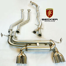 Becker Exhaust For 01 02 03 04 05 06 BMW E46 M3 3.2L 2Dr Coupe Cabriolet Catback