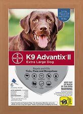K9 Advantix II Flea & Tick Treatment for Extra Large Dogs Over 55 lbs - 6 Pack