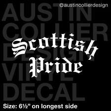"""6.5"""" SCOTTISH PRIDE vinyl decal car window laptop sticker - scotland gift"""