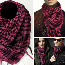 Pink/Black Plaid Shemagh Keffiyeh Military Light Weight Scarf Shawl Kafiya Wrap