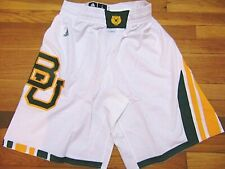 """ADIDAS AUTHENTIC NCAA BAYLOR BEARS ALTERNATE WHITE BASKETBALL GAME SHORTS L+2"""""""