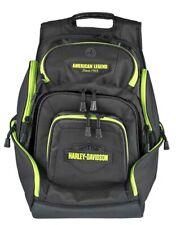 Harley-Davidson Lime Bar & Shield 8 Pocket Deluxe Backpack BP2000S-LIME/BLK