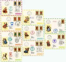 AUSTRIA SONDER BALLONPOST SET of 9 CARDS 1977 KINDERDORF PRO JUV