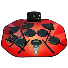 Kids Boys Girls Electronic Glowing Play Drum Mats Kit Set with Mp3 Cable Gift Us