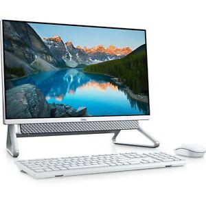 """Dell Inspiron 5490 24"""" All-In-One Desktop i5-10210 8GB 256GB+1TB Silver 2021 #G"""