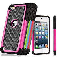 Hybrid Rugged Rubber Hard Case Protective Cover For iPod Touch 5th 6th Gen