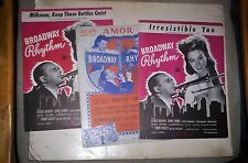 Broadway Rhythm Lot of 3 Movie Sheet Music GINNY SIMMS 1944