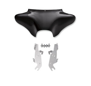Memphis Shades Batwing Fairing Windshield Polish Mount Kit Harley 86-17 Softail