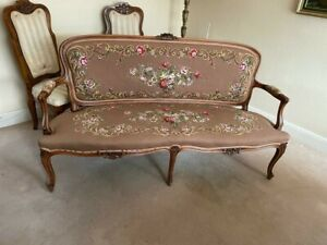 Vintage french style aubusson sofa