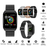 Metal Fashion Women Lady Mens Smart Sport Watch Fitness Tracker For iOS Android