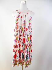 Woman Vtg Sexy Floral Multi Print Design Colourful Summer Casual Maxi Dress BF2