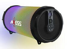 "Axess Disco LED HiFi 2.1 Bluetooth with 3"" Subwoofer Speaker (Black) SPBL1044BK"