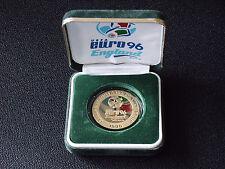 "Angleterre ""euro 96"" médaille commémorative avec box & coa"