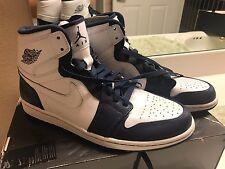Nike Air Jordan 1 Retro High Top Size 11.5 Blue White Brand New Unworn Rare