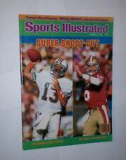 NO LABEL Sports Illustrated DAN MARINO Joe Montana DOLPHINS San Francisco 49ers
