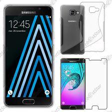 Etui Coque Silicone S-line Transparent Samsung Galaxy A3 2016 A310F +Film Verre