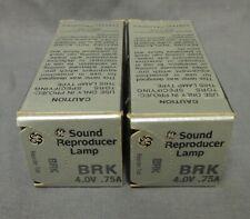 Lot of 2 Ushio BRK 4v .75A Exciter Lamp/Bulb, New old stock, never opened.