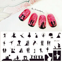 BORN PRETTY BP-L021 Scetch Pattern Nail Art Stamping Stencil Stamp Image Plate