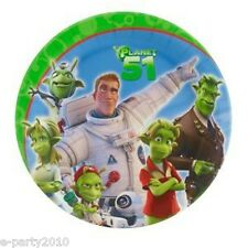 PLANET 51 SMALL PAPER PLATES (8) ~ Birthday Party Supplies Cake Dessert Lem Sony