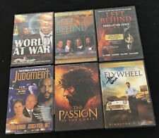 6 Dvd lot Christian film religious Passion of the Christ Left Behind, Flywheel,