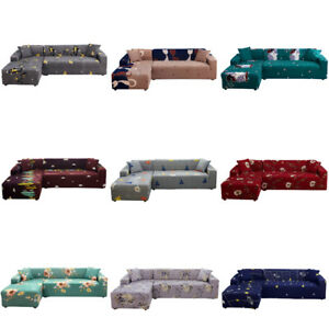 1 2 3 4 Seater Corner Sofa Covers Slipcover Couch Protector Elastic Stretch