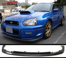 Urethane V LTD Front Bumper Lip Spoiler FOR Subaru Impreza WRX STi 2003-2005