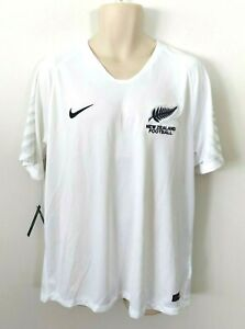 Nike New Zealand Football Mens Jersey Size XL Soccer National Team White Dri Fit