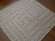 Crochet Pattern Christmas Words Motif Lap Blanket by Peach.unicorn