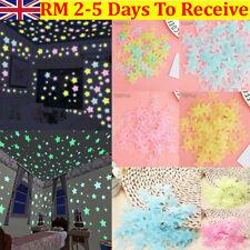 100PCS 3D Wall Glow In The Dark Stars Stickers Kids Bedroom Nursery Room Decor