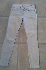 Bullhead Junior's Size 1 Reg Low Rise Light Gray Cropped Skinniest Jeans 28X27