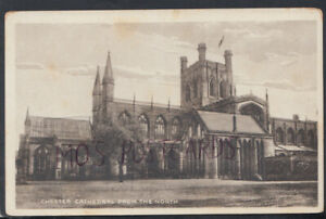 Cheshire Postcard - Chester Cathedral From The North    RS17563