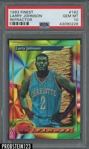 1993-94 Topps Finest Refractor #162 Larry Johnson Hornets PSA 10 GEM MINT POP 3