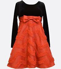 NWT girls BONNIE JEAN Velvet to Taffeta Red Black DRESS Sz 14  $68 tag