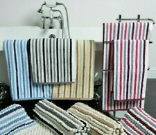 Allure Luxury Absorbent Stripe 100% Cotton Bath Towels Quick Dry Soft Bathroom