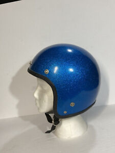 Vintage Motorcycle Helmet SIZE MED Snell Style    *COLLECTORS*