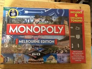 Monopoly Melbourne Edition, brand new still sealed. For age 8-adult.