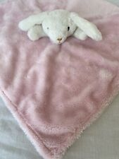 TCP The Childrens Place Pink White Bunny Rabbit Baby Blanket Lovey Satin