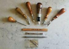 Vintage Leather Saddle Punch Tool Set Sewing