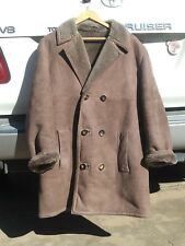 MENS SHEARLING SHEEPSKIN LEATHER COAT JACKET BURBERRY M--L FITS SLIM