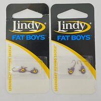 Lindy Fat Boys Ice Fishing Jig LFB-1245 MN Viking 2 Packs 4 Hooks New Freshwater