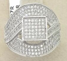 Ladies Female Women's Designer Real 925 Sterling Silver CZ Party Cocktail Ring