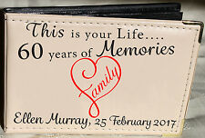 Personalised Photo Album,Memory/Guest Book, 60th Birthday Gift, 6 x 4