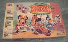MICKEY MOUSE MEMORY GAME Milton Bradley 1991 Excellent Condition! Ages 3-6