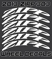 adesivi decalcomanie zipp 303 2013 Style Firecrest nero set per 2 ruote 12 pezzi