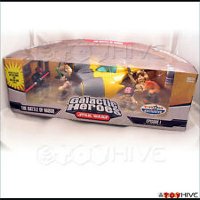 Star Wars Galactic Heroes the Battle of Naboo cinema scene set with starfighter