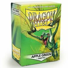 DRAGON SHIELD: APPLE GREEN MATTE SLEEVES - STANDARD SIZE 100 COUNT