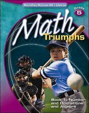 Math Triumphs, Grade 5, Student Study Guide, Book 1: Number and Operations and A