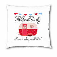 Personalised Cushion Cover Caravan Camper Mum Grandma Nanny Dad Grandad Gift