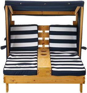 Garden Furniture Sofa Set Canopy Corner Wooden Lounger Table Outdoor Patio Kids